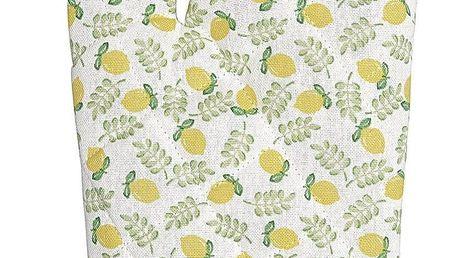 GREEN GATE Chňapka Limona Petit White, zelená barva, žlutá barva, textil