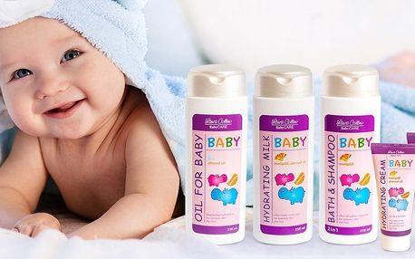 Dětská kosmetika: gel, krém, mléko, olej i sada