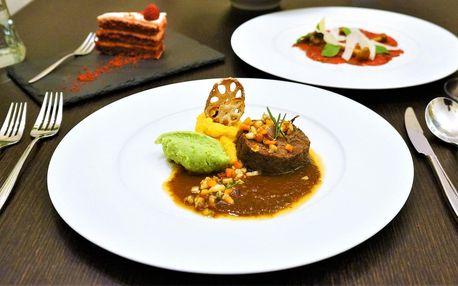4chodové menu: carpaccio, kulajda i hovězí líčka