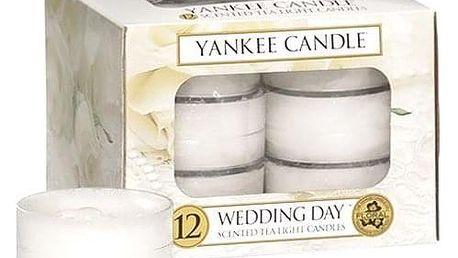 Yankee Candle Čajové svíčky Yankee Candle 12ks - Wedding Day, bílá barva, vosk