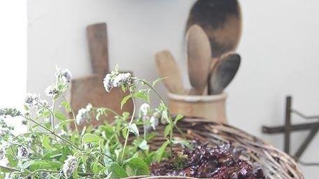 Jeanne d'Arc Living Proutěný košík Round Wowen, přírodní barva, proutí