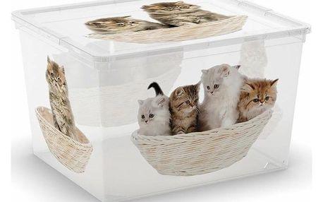 Úložný box KIS C-Box Puppy & Kitten Cube 27l