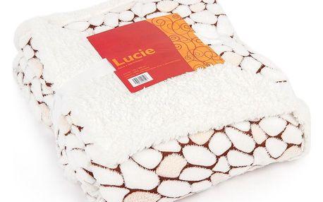 Bo-ma Trading Beránková deka Lucie béžová 2, 150 x 200 cm