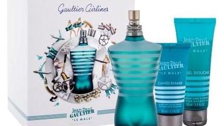 Jean Paul Gaultier Le Male dárková kazeta pro muže toaletní voda 125 ml + sprchový gel 75 ml+ balzám po holení 50 ml