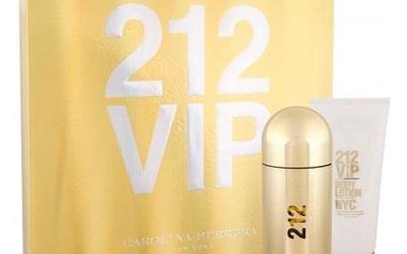 Carolina Herrera 212 VIP dárková kazeta pro ženy parfémovaná voda 80 ml + tělové mléko 100 ml