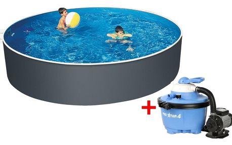 Marimex | Bazén Orlando 3,66x1,07 m s pískovou filtrací ProStar 4 a příslušenstvím | 19900043