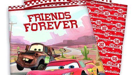 Herding Dětské bavlněné povlečení Cars Friends Forever, 140 x 200 cm, 70 x 90 cm