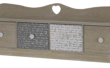 Koopman Dřevěná závěsná skříňka se šuplíky, 60 cm