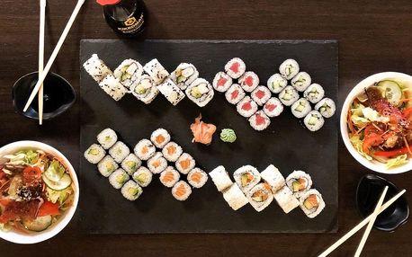 Sushi sety 24–58 ks i se salátem Chay