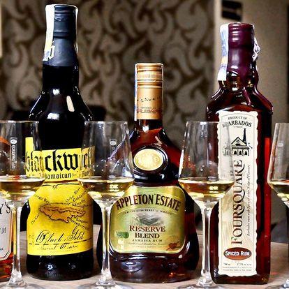 Degustace 5 rumů z Barbadosu, Jamajky a Venezuely