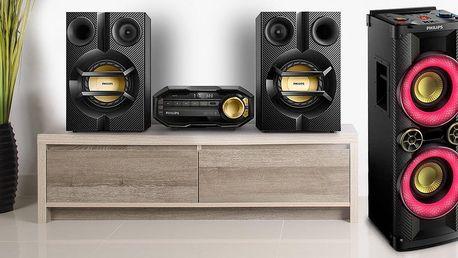Audiosystémy Philips s podporou basů a bluetooth