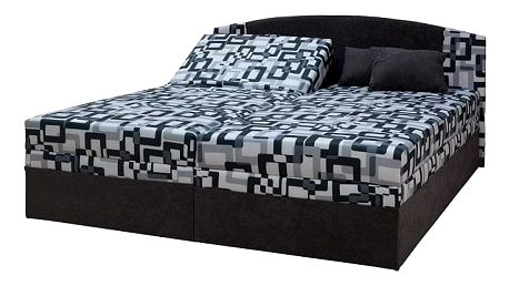 Polohovací dvoulůžková postel Izabela 180 cm, Tivi 3/Alova 36 šedá
