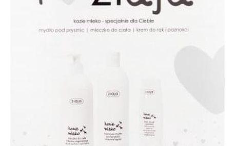 Ziaja Goat´s Milk dárková kazeta pro ženy krémové sprchové mýdlo 500 ml + tělové mléko 400 ml + krém na ruce 80 ml