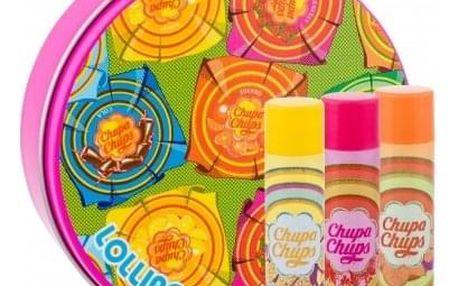 Chupa Chups Lip Balm dárková kazeta pro děti balzám na rty 3 x 4 g + plechová dóza