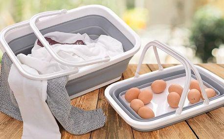 Skládací silikonový košík na piknik i nákup