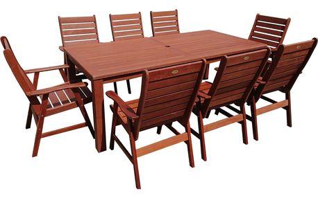 Texim Aus zahradní dřevěný set 1+8