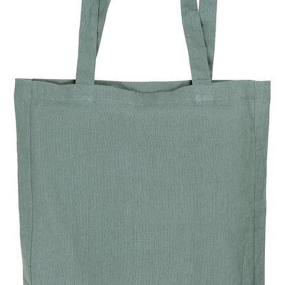IB LAURSEN Látková taška dusty blue, modrá barva, textil