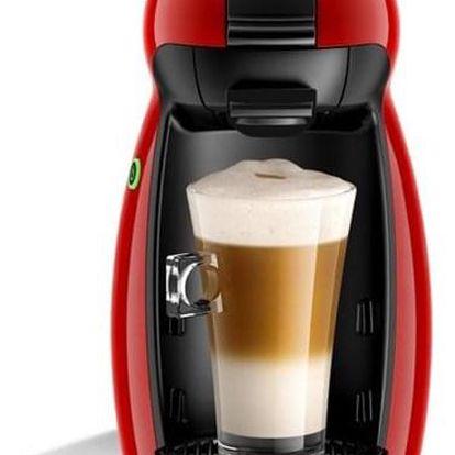 Espresso Krups NESCAFÉ Dolce Gusto Piccolo KP1006 červené + dárek Kapsle pro espressa NESCAFÉ Dolce Gusto® Latte Macchiato kávové kapsle 16 ks v hodnotě 129 Kč
