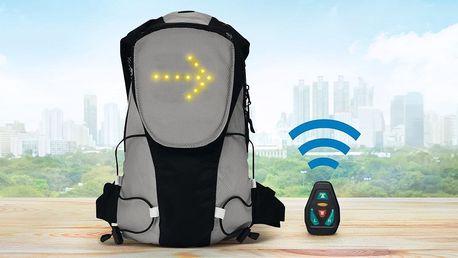 Cyklistický batoh s LED ukazateli směru jízdy