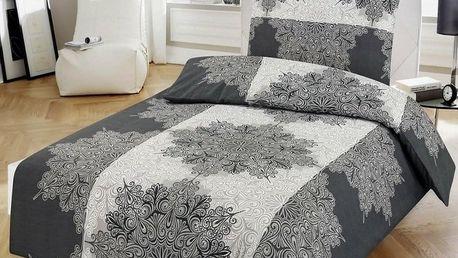 Jahu Bavlněné povlečení Ornament šedá, 140 x 200 cm, 70 x 90 cm