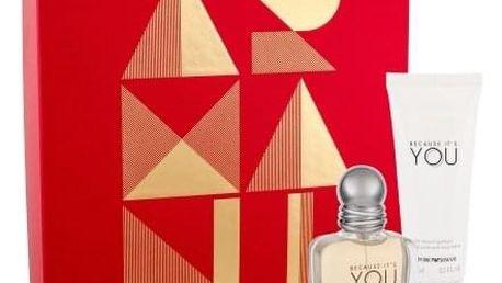 Giorgio Armani Emporio Armani Because It´s You dárková kazeta pro ženy parfémovaná voda 30 ml + tělové mléko 75 ml