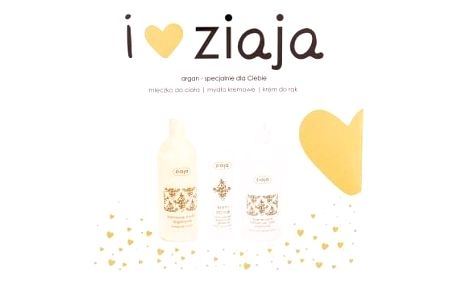 Ziaja Argan Oil dárková kazeta pro ženy krémové sprchové mýdlo 500 ml + tělové mléko 400 ml + krém na ruce 100 ml