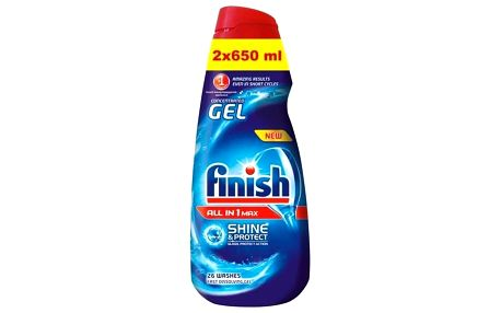 Gel do myčky FINISH All-in-1 Shine&Protect 2x 650 ml