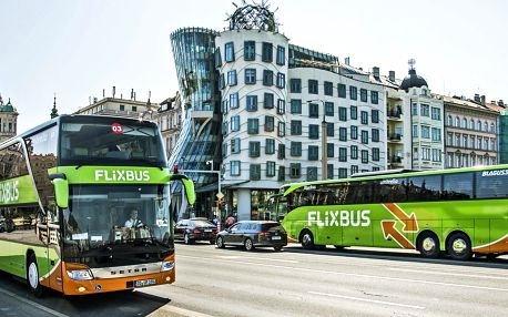 Sleva na jízdenky FlixBus na lince Praha–Třebíč