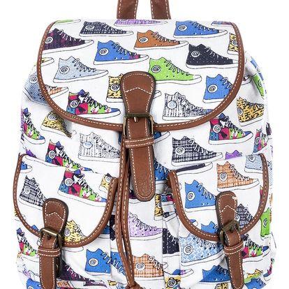 Batoh Kecky textilní A4 Backpack ekokůže