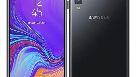 Mobilní telefon Samsung A7 Dual SIM (SM-A750FZKUXEZ) černý Software F-Secure SAFE, 3 zařízení / 6 měsíců + Powerbank Forever 10000 mAh 2xUSB šedá/bílá v hodnotě 1 352 Kč