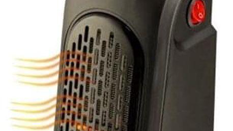 Teplovzdušný ventilátor Rovus Handy heater černý