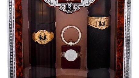 Cuba Gold dárková kazeta pro muže toaletní voda 100 ml + voda po holení 100 ml + klíčenka