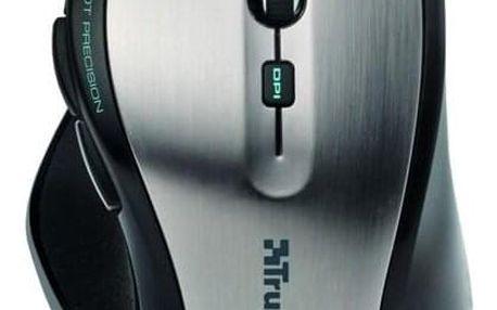 Trust MaxTrack Wireless Mini černá/stříbrná / optická / 6 tlačítek / 1000dpi (17177)