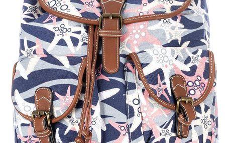 Batoh Ocean textilní A4 Backpack ekokůže
