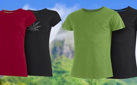 Dámská a pánská trička z konopí