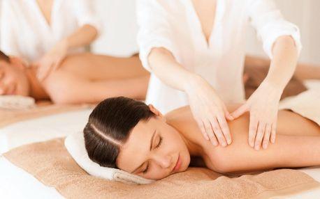 45minutová relaxační partnerská masáž dle výběru