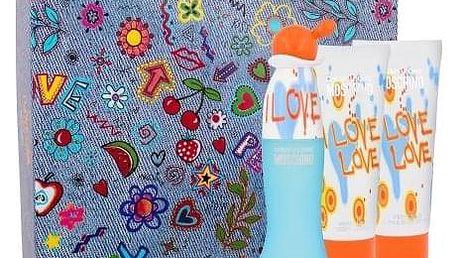 Moschino Cheap And Chic I Love Love dárková kazeta pro ženy toaletní voda 50 ml + tělové mléko 100 ml + sprchový gel 100 ml