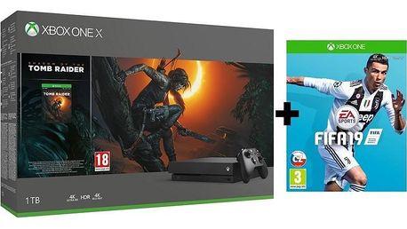 Microsoft Xbox One X 1 TB + Shadow of the Tomb Raider + FIFA 19 (CYV-00105F)
