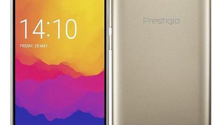 Mobilní telefon Prestigio Wize Q3 Dual SIM zlatý + dárek (PSP3471DUOGOLD)