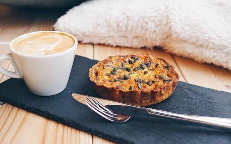 Káva a slaný i sladký dezert pro 1 nebo 2 osoby
