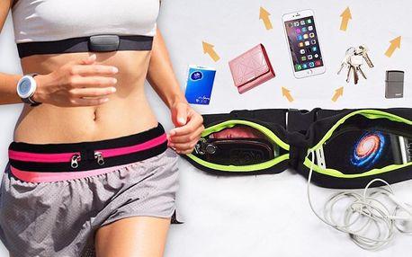 Sportovní elastické pouzdro kolem pasu