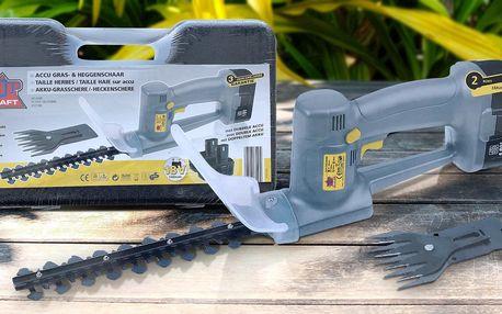 Top Craft aku nůžky na trávu a keře + 2 baterie