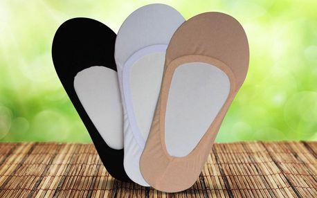 9 párů ponožek do balerínek: tělové, bílé a černé