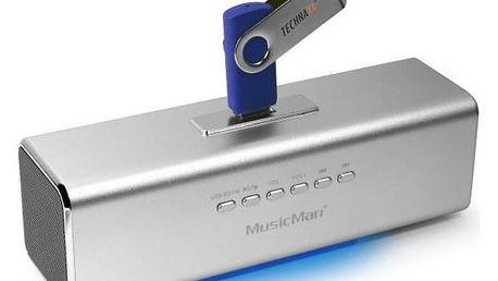 Technaxx MusicMan stříbrný (3431)