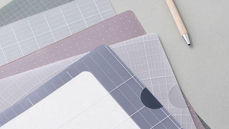 MONOGRAPH Slohy na dokumenty Report - set 5ks, multi barva, plast