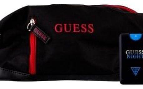 GUESS Night dárková kazeta pro muže toaletní voda 20 ml + kosmetická taška