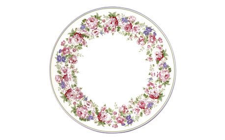 GREEN GATE Porcelánový talíř Plate Rose White ⌀ 20,5 cm, multi barva, keramika