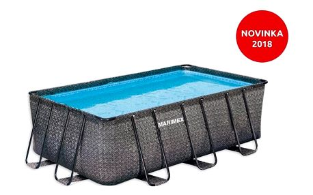 Marimex | Bazén Florida Premium 2,15x4,00x1,22 m bez filtrace - motiv RATAN | 10340215