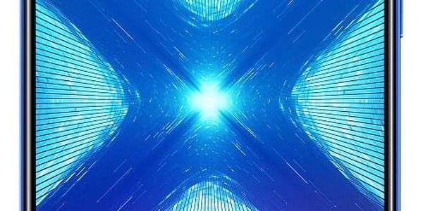 Mobilní telefon Honor 8X 64 GB Dual SIM (51093VPL) modrý SIM karta T-Mobile SIM s kreditem T-mobile Twist V síti 200 Kč kredit - hlasové volání v hodnotě 200 Kč2