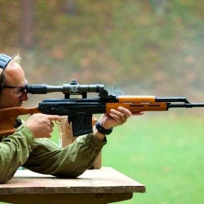 Střílení na venkovní střelnici